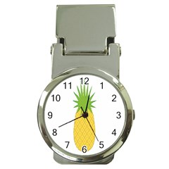 Fruit Pineapple Yellow Green Money Clip Watches