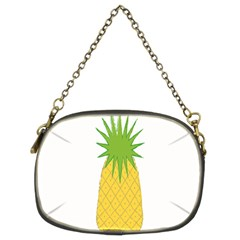 Fruit Pineapple Yellow Green Chain Purses (Two Sides)