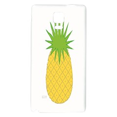 Fruit Pineapple Yellow Green Galaxy Note 4 Back Case