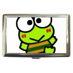 Frog Green Big Eye Face Smile Cigarette Money Cases