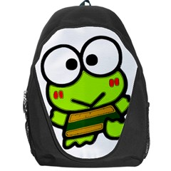 Frog Green Big Eye Face Smile Backpack Bag