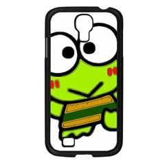 Frog Green Big Eye Face Smile Samsung Galaxy S4 I9500/ I9505 Case (black)