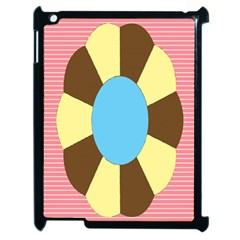 Garage Door Quilts Flower Line Apple Ipad 2 Case (black)