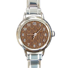 Chains Abstract Seamless Round Italian Charm Watch