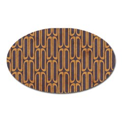 Chains Abstract Seamless Oval Magnet