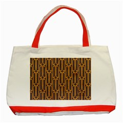Chains Abstract Seamless Classic Tote Bag (Red)