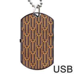 Chains Abstract Seamless Dog Tag Usb Flash (two Sides)