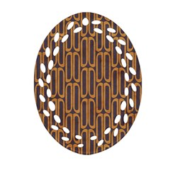 Chains Abstract Seamless Oval Filigree Ornament (two Sides)