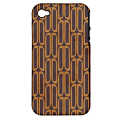 Chains Abstract Seamless Apple iPhone 4/4S Hardshell Case (PC+Silicone)
