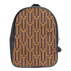 Chains Abstract Seamless School Bags (XL)