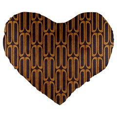 Chains Abstract Seamless Large 19  Premium Heart Shape Cushions