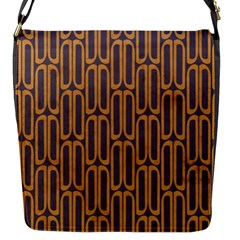 Chains Abstract Seamless Flap Messenger Bag (S)
