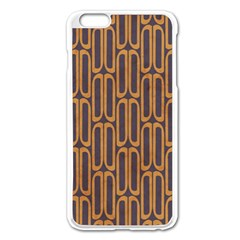 Chains Abstract Seamless Apple iPhone 6 Plus/6S Plus Enamel White Case