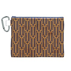Chains Abstract Seamless Canvas Cosmetic Bag (XL)
