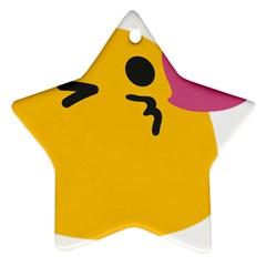 Happy Heart Love Face Emoji Ornament (star)