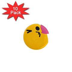 Happy Heart Love Face Emoji 1  Mini Magnet (10 Pack)