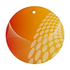 Abstract Orange Background Ornament (Round)