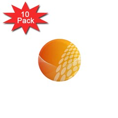 Abstract Orange Background 1  Mini Magnet (10 Pack)