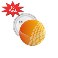 Abstract Orange Background 1.75  Buttons (10 pack)