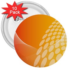 Abstract Orange Background 3  Buttons (10 pack)