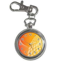 Abstract Orange Background Key Chain Watches