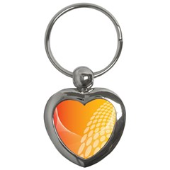 Abstract Orange Background Key Chains (heart)