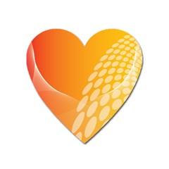 Abstract Orange Background Heart Magnet