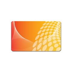 Abstract Orange Background Magnet (Name Card)