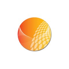 Abstract Orange Background Golf Ball Marker