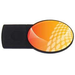 Abstract Orange Background USB Flash Drive Oval (1 GB)