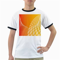 Abstract Orange Background Ringer T-Shirts