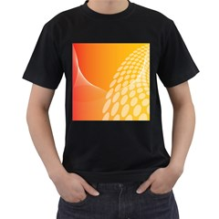 Abstract Orange Background Men s T-Shirt (Black) (Two Sided)