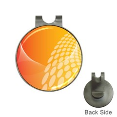 Abstract Orange Background Hat Clips With Golf Markers