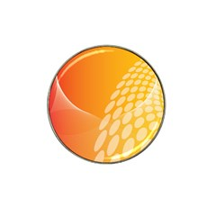 Abstract Orange Background Hat Clip Ball Marker (10 pack)