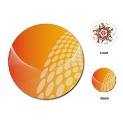Abstract Orange Background Playing Cards (Round)