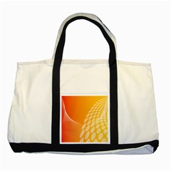 Abstract Orange Background Two Tone Tote Bag