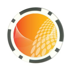Abstract Orange Background Poker Chip Card Guard
