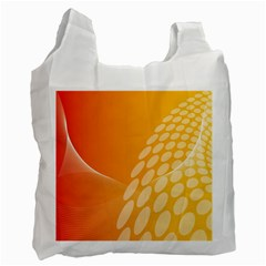 Abstract Orange Background Recycle Bag (one Side)