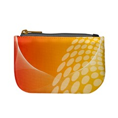 Abstract Orange Background Mini Coin Purses