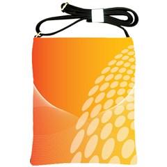 Abstract Orange Background Shoulder Sling Bags