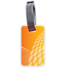 Abstract Orange Background Luggage Tags (one Side)