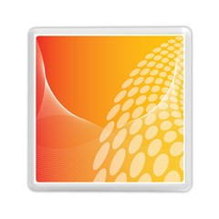 Abstract Orange Background Memory Card Reader (square)