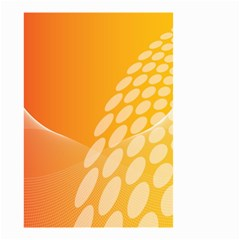 Abstract Orange Background Small Garden Flag (two Sides)