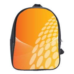 Abstract Orange Background School Bags (XL)