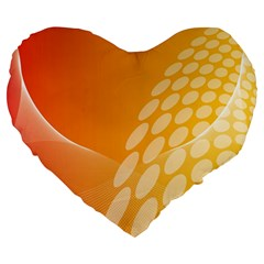 Abstract Orange Background Large 19  Premium Heart Shape Cushions