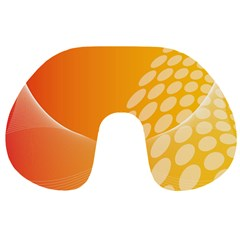 Abstract Orange Background Travel Neck Pillows