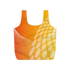 Abstract Orange Background Full Print Recycle Bags (s)