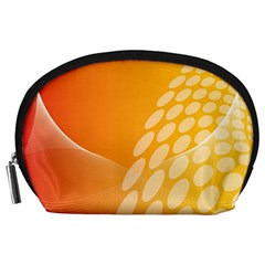 Abstract Orange Background Accessory Pouches (Large)
