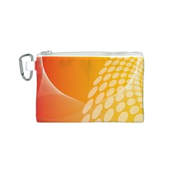 Abstract Orange Background Canvas Cosmetic Bag (S)
