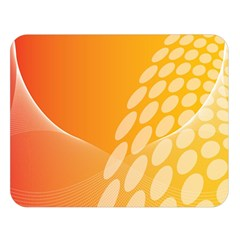 Abstract Orange Background Double Sided Flano Blanket (Large)